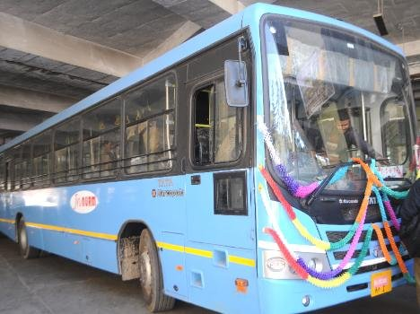 hrtc starts blue standered buses in shimla city.