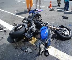 bike accident at kangra, two brother died.