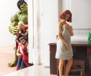 Hilarious Photo Series of Superhero
