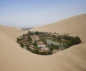 oasis town flourishing in peru