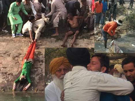 wife dead fell to the bhakra river, see pics
