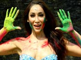 Hot Sofia Hayat Bikini Holi Photoshoot 2015