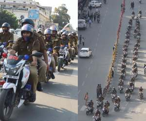 Rout March by UP Police.