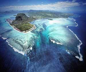 waterfall inside ocean