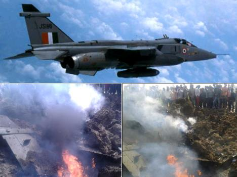 air force fighter plane Jaguar crash