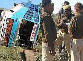 Bus accident in Bahraich.