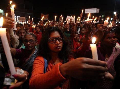 candal march against hisar church issue, nun gangrape case, live pics