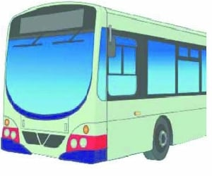 Bus passengers stranded in difficult