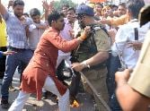 BJP youth wing protest over Police recruitment.