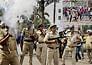 Police firing after violent demonstrations against Nitish.