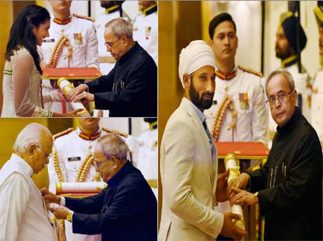 President distributed Padam award today