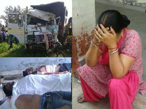 horrible college bus accident on ambala highway, live pics