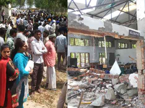 kurushetrak blast, lord hanuman save big casualty, see pics