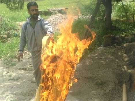 mysterious fire at bilaspur.
