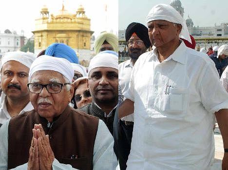 up governer ram nayak and sharad pawar at golden temple