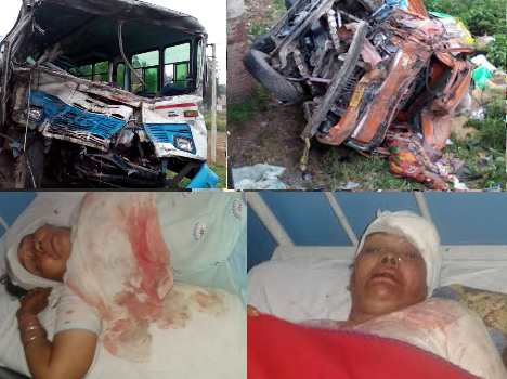 bus-truck accident in ambala, horrible pics