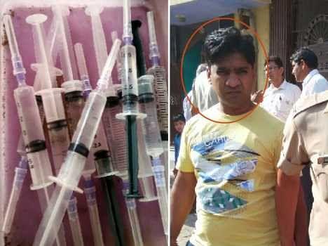 drug injection at medical shop, chemist arrest after sting operation