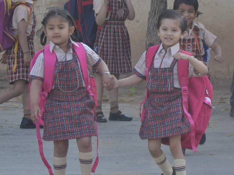 chandigarh school first day after vacation, live pics