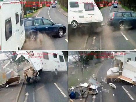 caravan car accident