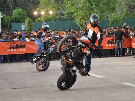 Stunt show organised by KTM at Jammu