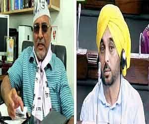 Bhagwant mann replaces dharamvir gandhi as the leader of aap in parliament