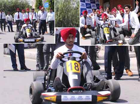 racing car a new innovation of mechanical students