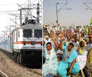 farmer protest against government, rail roko agitation
