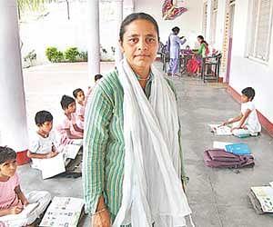 A woman made gurukul for the girl.
