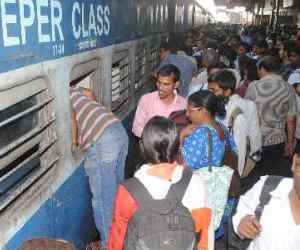 Trains and buses are full from exam student