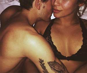 Oliver Proudlock shares a VERY intimate selfie of him in bed with scantily-clad girlfriend Emma Conn