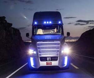 The robot truck that can drive itself