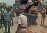 Police baton charge on protesters in Bihar after clash.