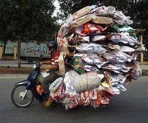overloaded bikes across the world