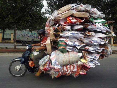 overloaded bikes across the world