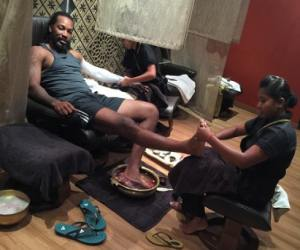 chris gayle is doing spa