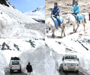 rohtang pass open for tourist afters six months.