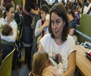 women breastfeed protest at mcdonald