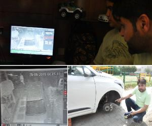 clever handiwork of thieves caught by CCTV