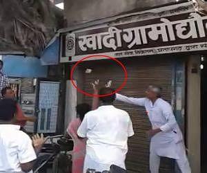 Monkey do rain of money in ayodhya