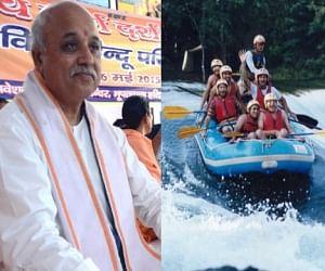 vhp want ban on ganga rafting.