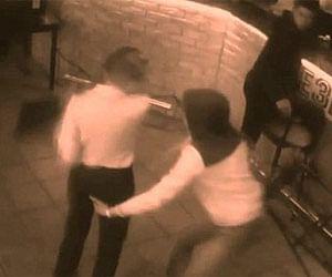 Russian waitress floors customer after he gropes her