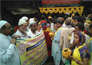 Muslim community welcomes Kalash yatra In Varanasi.