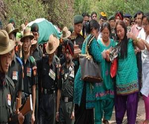 Martyr ash kumar funeral in himachal.