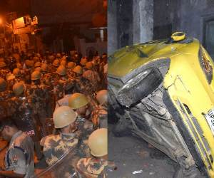 pics of Communal violence in Lucknow