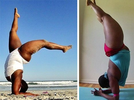 flabby yoga teacher whose bends will amaze you