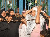 protest on imamabara opening in lucknow