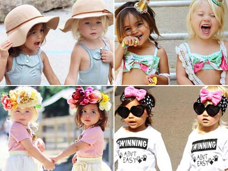 fashionable toddlers getting modelling offers