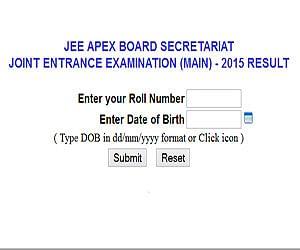 CBSE announces JEE (main) ranks
