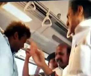 करुणानिधि के बेटे ने मेट्रो में यात्री को मारा थप्पड़, वीडियो वायरल