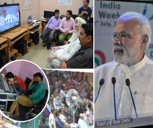 digital india: sarpanch could not talk with PM modi